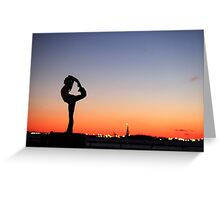 Yoga in New York silouette Greeting Card