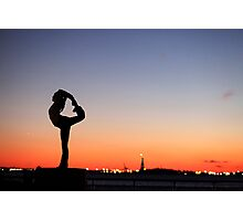 Yoga in New York silouette Photographic Print