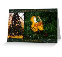WoodenShoes Xmas Tree - card Greeting Card
