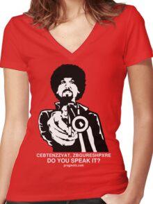 "ProgMofo, ""Optimized"" Edition Women's Fitted V-Neck T-Shirt"