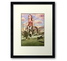 Too Big For This Town Framed Print