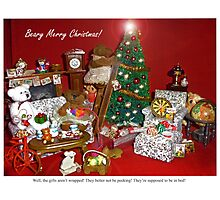 Not Quite Christmas in the Burrow Photographic Print