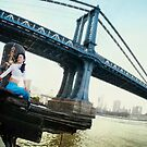 Yoga by Manhattan Bridge, New York by Wari Om  Yoga Photography