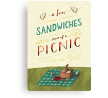 A Few Sandwiches… Canvas Print