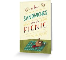 A Few Sandwiches… Greeting Card