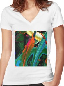 Under The Sea T-Shirt Women's Fitted V-Neck T-Shirt
