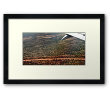 Country Road from on High Framed Print