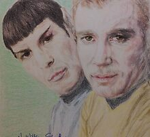 Spock and Kirk by NWillsonStrader