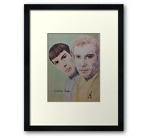 Spock and Kirk Framed Print