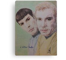 Spock and Kirk Canvas Print