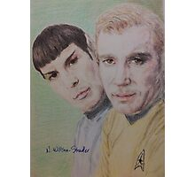 Spock and Kirk Photographic Print