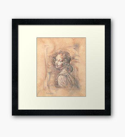 Da Vinci`s Angel Framed Print