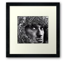 Fear of being afraid to look Framed Print
