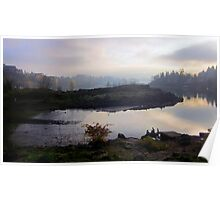 Willamette River and Elk Rock Island Poster