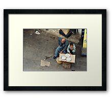 Selling Pies Framed Print