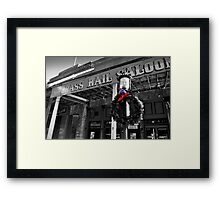 Brass Rail XMas, Virgina City Framed Print