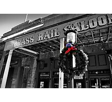 Brass Rail XMas, Virgina City Photographic Print
