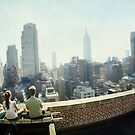Yoga Meditation in a rooftop by the Empire State Building, New York City views by Wari Om  Yoga Photography