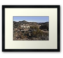Old Cemetery, Virginia City Framed Print