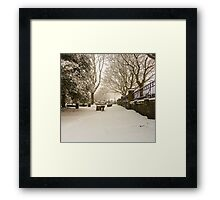 Buried Beneath The Snow Framed Print