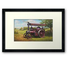 Old traction engine Framed Print