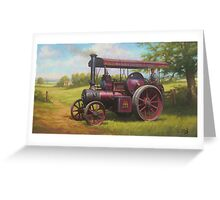 Old traction engine Greeting Card