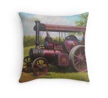 Old traction engine Throw Pillow