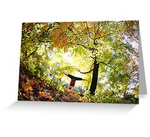 Handstand at Central Park,  Park, New York Greeting Card