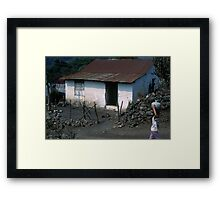Carrying Water Framed Print