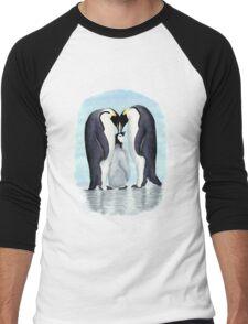 family of penguins Men's Baseball ¾ T-Shirt