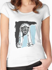 Demon Tiger Man Women's Fitted Scoop T-Shirt