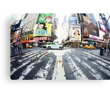 Yoga handstand at Times Square, Manhattan New York City Canvas Print