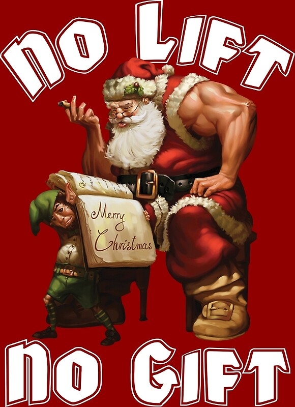 Bodybuilder Christmas Cards?