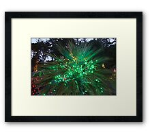 Glows in Green, Red, and Blue Framed Print