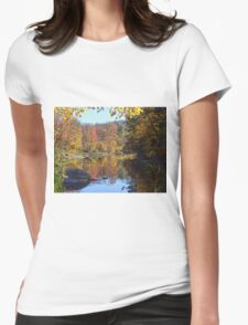 Stream reflections Womens Fitted T-Shirt