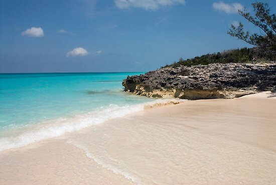 Beach on Rose Island, Bahamas by Shane Pinder