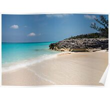 Beach on Rose Island, Bahamas Poster
