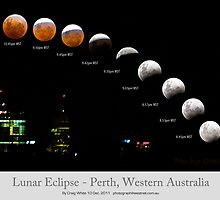 Lunar Eclipse over Perth, Western Australia by Craig A. White (Australia)