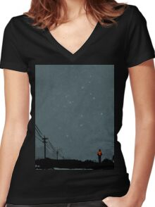 The Road Women's Fitted V-Neck T-Shirt