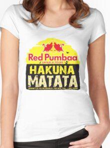 Red Pumbaa - Hakuna Matata Women's Fitted Scoop T-Shirt