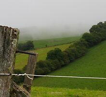 farmland in the clouds by Clare Colins