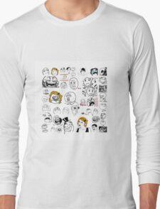 Meme Collaboration Shirt Long Sleeve T-Shirt