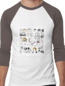 Meme Collaboration Shirt Men's Baseball ¾ T-Shirt
