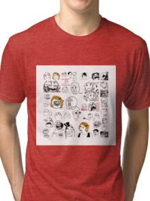 Meme Collaboration Shirt Tri-blend T-Shirt