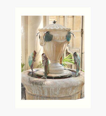 Roman Spring water, Bath Art Print