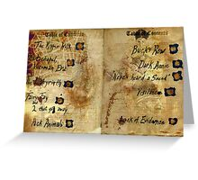Altered, Table of Contents Greeting Card