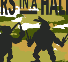 Brothers in a Half-Shell (for Light colors) Sticker