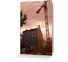 construction site in Berlin Greeting Card