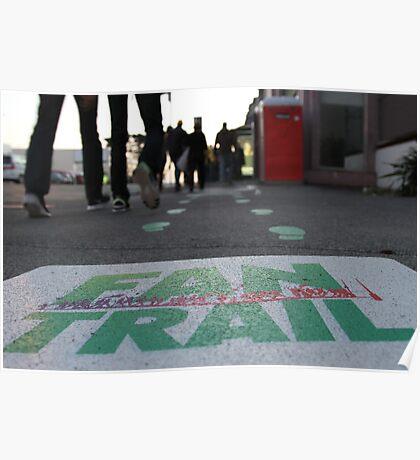 """Fan Trail"", World Cup NZ Poster"