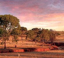 Colours of Dusk - Mine Road, Kanmantoo, South Australia by Mark Richards